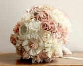 wedding Bouquet Fabric rustic Bridal Bouquet shabby chic bouquet
