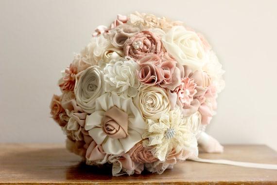 Bridal Bouquet Materials : Wedding bouquet fabric rustic bridal shabby chic