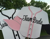 BASEBALL JERSEYS and HATS wedding photo booth props pink and black with bling