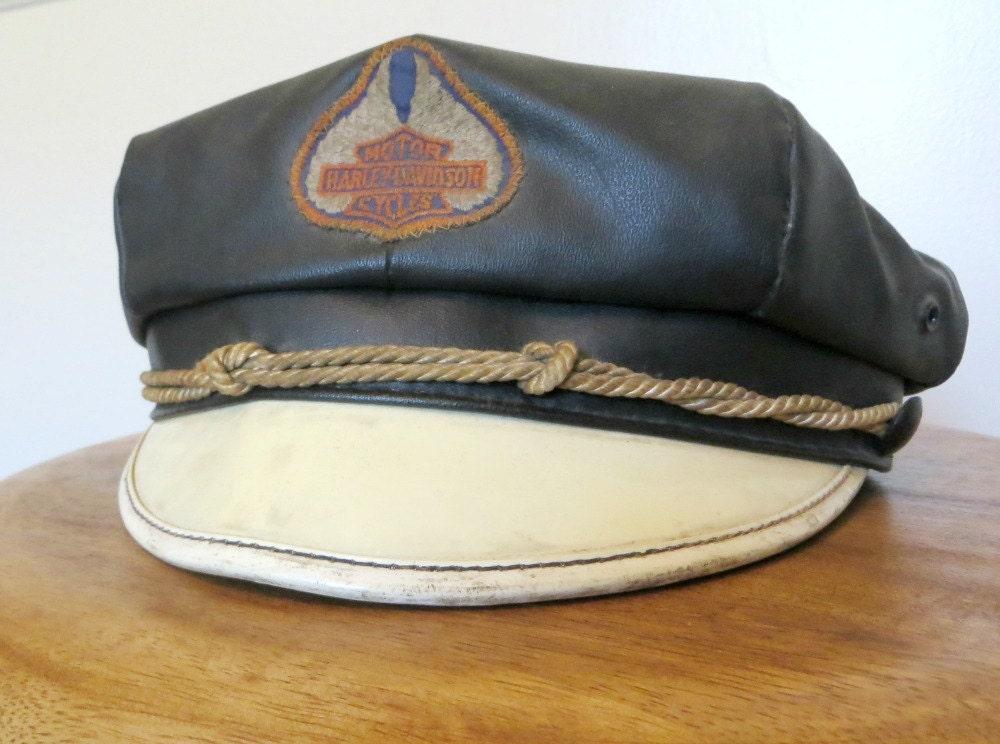 Vintage Harley Davidson Black Cowboy Hat Black by grassdoll  |Vintage Harley Davidson Hats