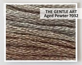 AGED PEWTER 7032 : Gentle Art GAST hand-dyed embroidery floss cross stitch thread at thecottageneedle.com