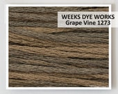 GRAPE VINE 1273 Weeks Dye Works WDW hand-dyed embroidery floss cross stitch thread at thecottageneedle.com grapevine