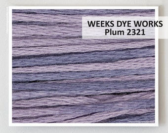 PLUM 2321 : Weeks Dye Works WDW hand-dyed embroidery floss cross stitch thread at thecottageneedle.com