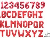 "34"" Red Foil Mylar Letter Number Balloon Pick from A-Z, 0-9 and symbols"