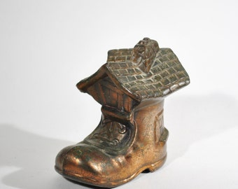 Vintage Children's Coin Bank Shoe House
