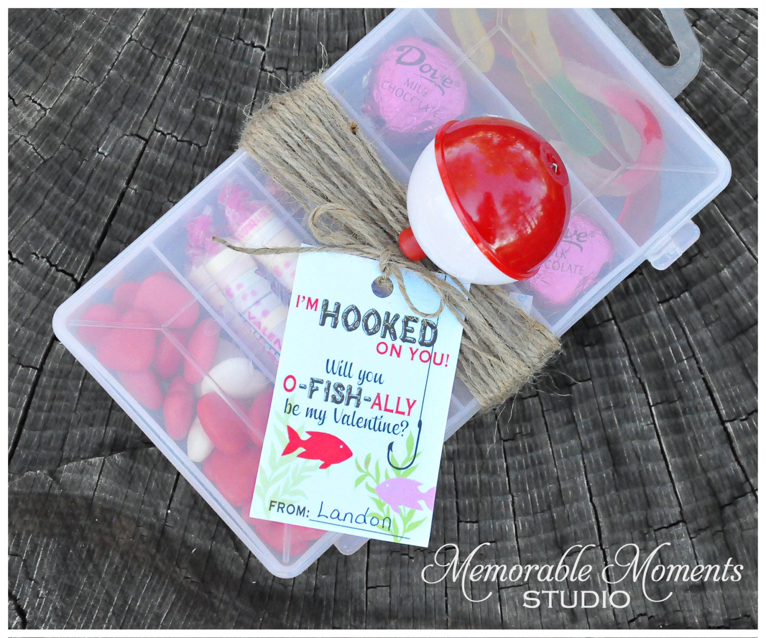 INSTANT DOWNLOAD Printable I'm Hooked On You Favor Tags