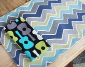 Kid Size GEOMETRIC Placemat - Choose from 12 different styles