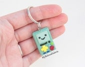 Polymer Clay Key Chain- Adventure Time- BMO- Ready To Ship