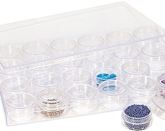 24 in 1 Plastic Storage Containers 9in X 6in X 1in
