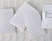24 teeny tiny envelope note sets handmade embossed white stripe miniature square stationery party favors weddings guest book tooth fairy