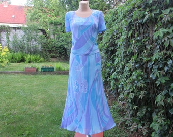 Beautifull Skirt Suit / Skirt Suit Vintage / Long / Maxi / Viscose / Two Piece / EUR 38 / 40 / UK10 / 12 / Lining