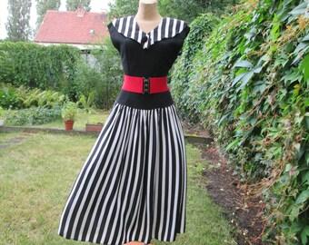 Nice Dress Vintage / Black / White / Size EUR38 / UK10 / Full Dress