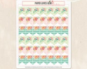 42 Flowers & Stripes Pennant Page Flag Planner Stickers, Calendar Sticker, Planner Accessories, Erin Condren, Filofax, Project Life