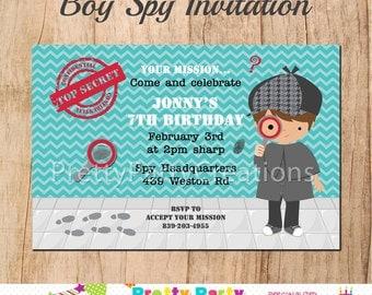 BOY SPY invitation - YOU Print