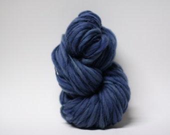 Handspun Thick and Thin Merino Yarn Wool Slub  Hand Dyed tts(tm) Bulky Stonewashed 02
