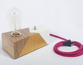 White & Gold Desk Lamp