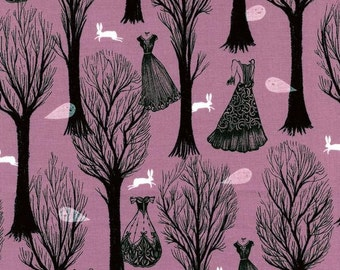 Spellbound Haunted Forest in Pearlescent Lilac, Sarah Watts, Cotton+Steel, RJR Fabrics, 100% Cotton Fabric, 5007-3