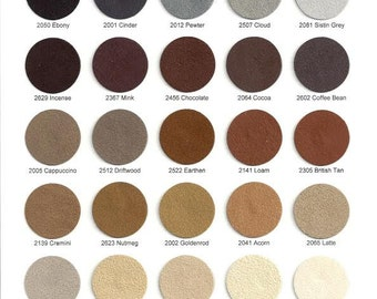 Sensuede 1/2 yard - Choose from 90 colors.