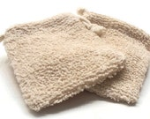Soap Sack - Boucle Soap Sack - Christmas Stocking Stuffers - Soap Pouch - Soap Saver - Soap Mitt - Cotton Ramie Soap Sack