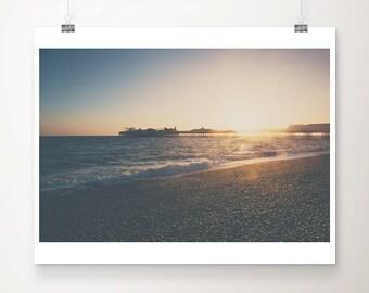 beach photograph ocean photograph brighton pier photograph sunset photograph beach print coastal print seaside photograph brighton print