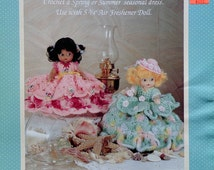 Fibre Fiber Craft SCENTED SWEETIES I Air Freshener Doll - Crochet Doll Clothes Clothing Pattern