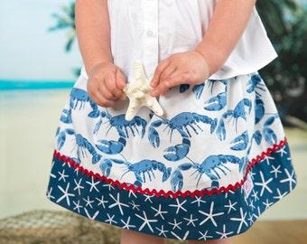 Michael Miller Lobster  skirt  (18 mos, 2T, 3T, 4T, 5, 6, 7, 8, 10)