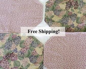 Place Mats Lilac Reversible Set of 6 Free Shipping!