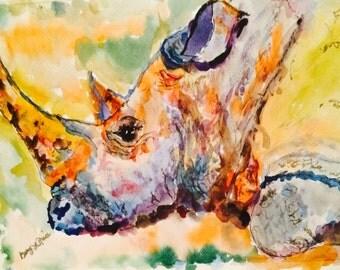 Priscilla Rhino Blue