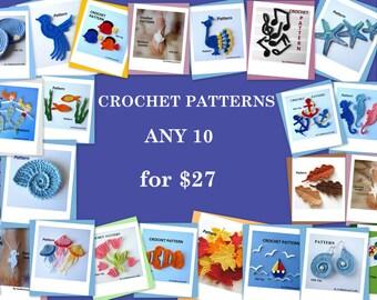 Crochet Patterns - Pick ANY 10