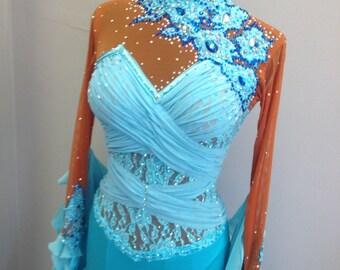 Blue Ballroom Gown  Dance Ballroom Dresses