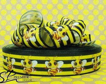 "1"" Bee Grosgrain Ribbon"