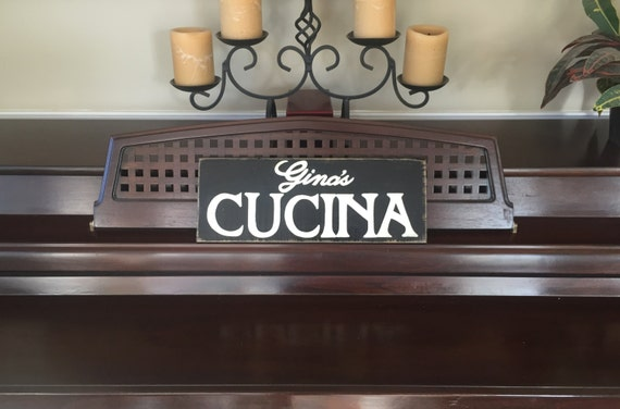 Personalized Italian Country Kitchen CUCINA Wood HP Sign Plaque Custom Italy Farmhouse Nonni's Wooden You Pick Color
