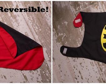 Reversible Superman/Batman Cape fits sizes 2-6 toddler
