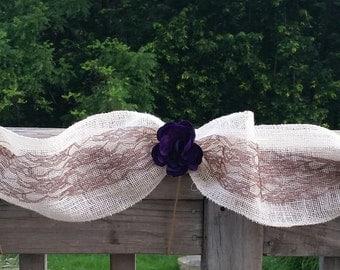 Burlap & Lace Garland, Wedding Head Table Decor