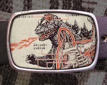 Godzilla Belt buckle, Monster Buckle, Geekery 601