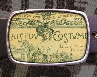 French Exposition Lady Belt Buckle, French Buckle, Shabby Chic 561