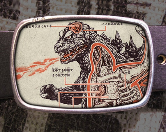 Godzilla Belt buckle, Monster Buckle, Geekery 601