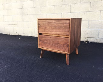 Mid century modern nightstand, night stand, bedside table