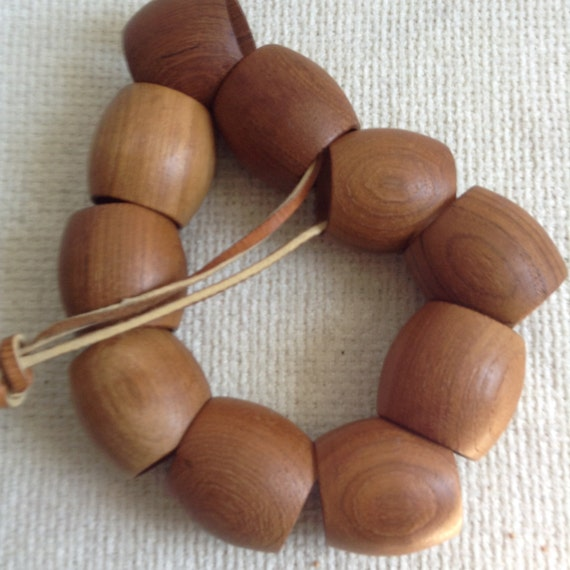 Teak Wood Pieces ~ Vintage teak wood napkin rings pieces by thegroovevintage