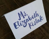 Place Cards - Escort Cards - Guest Cards - Table Cards - Table Names and Blurbs