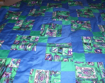 Disappearing Nine Patch Quilt Top-47x47 inches