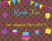 Digital File for Invitation RUSH ORDER Add On -12 hours or less