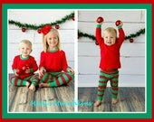 2015 CHRISTMAS PJs / Children Sizes 18m to 5T / Add a name or design to tee front
