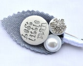 Winter Snowflake and Pearl Childrens Buttonholes Best Little Man / Page Boy Buttonhole Boutonniere Wedding