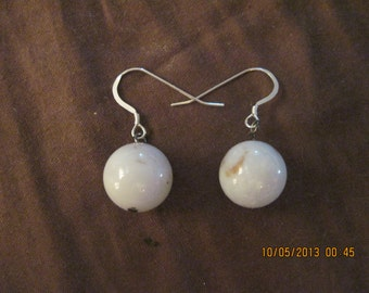Sterling Silver & Natural Blue Chalcedony Drop Earrings.....4255