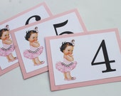 Tutus and Diamonds Baby Ballerina Table Numbers - Private Listing