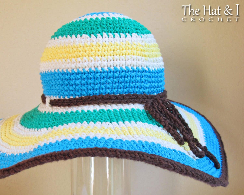 CROCHET PATTERN Poolside crochet sun hat pattern summer