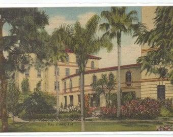 "Florida, Vintage Postcard, ""Bay Pines Fla., U.S. Veterans Home,""  1950s, #620-2."