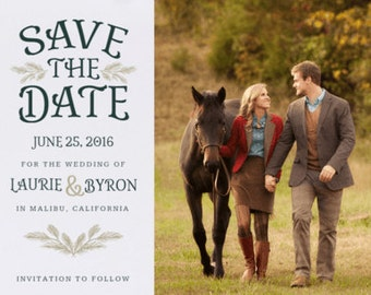 Rustic Love Save the Date