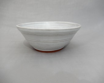 White Pottery Bowl - Glazed Terracotta